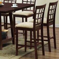"Baxton Studio Katelyn Modern 25.13"" Bar Stool with Cushion (Set of 2)"