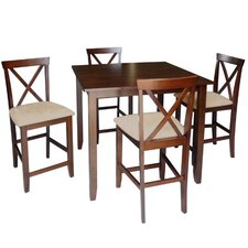 Baxton Studio Natalie 5 Piece Counter Height Dining Set