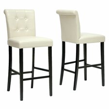 "<strong>Wholesale Interiors</strong> Baxton Studio Torrington 30"" Bar Stool with Cushion (Set of 2)"