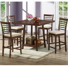 <strong>Wholesale Interiors</strong> Baxton Studio 5 Piece Counter Height Dining Set