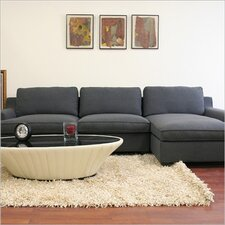 <strong>Wholesale Interiors</strong> Baxton Studio Kaspar Cotton Sectional