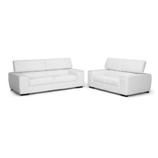 Baxton Studio Prentice Leather Modern Sofa Set