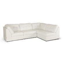 Baxton Studio Warren Leather Modular Sectional Sofa