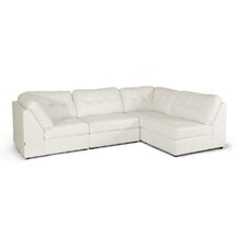 Baxton Studio Warren Leather Modular Sectional