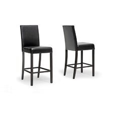 "Baxton Studio Torino Modern 30"" Bar Stool with Cushion (Set of 2)"