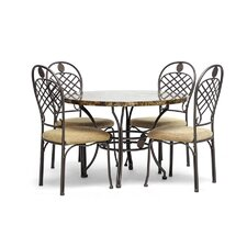 Baxton Studio Hear 5 Piece Dining Set