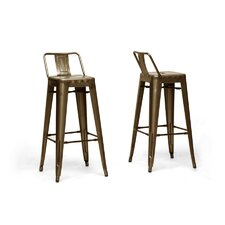 "Baxton Studio French Industrial 30.25"" Bar Stool (Set of 2)"