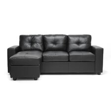 Baxton Studio Lisbon Modern Sofa with Reversible Chaise