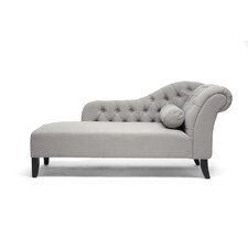 Baxton Studio Aphrodite Tufted Chaise Lounge