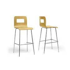 "Baxton Studio Greta Modern 28.5"" Bar Stool (Set of 2)"