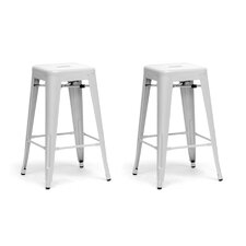 Baxton Studio French Industrial Stool (Set of 2)
