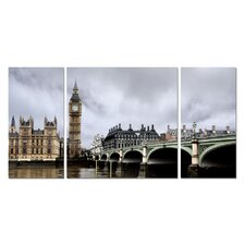 Baxton Studio Big Ben 3 Piece Photographic Print on Canvas Set