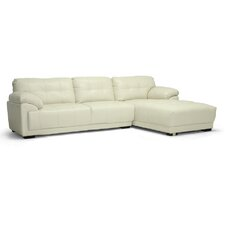 Baxton Studio DeCarlo Leather Sectional with Right Facing Chaise
