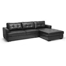 Baxton Studio Dobson Chaise Sectional