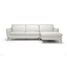 Baxton Studio Donovan Leather Sectional