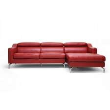 Baxton Studio Levi Leather Sectional