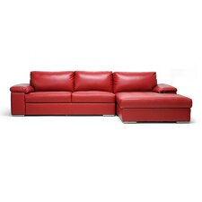 <strong>Wholesale Interiors</strong> Baxton Studio Dawson Leather Sectional