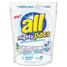 <strong>Sun Products</strong> All Mighty Pacs Free and Clear Super Concentrated Laundry Detergent