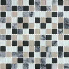 "<strong>Giorbello</strong> Glacier Mountain 11-3/4"" x 11-3/4"" Tile with Squares in Avalanche"