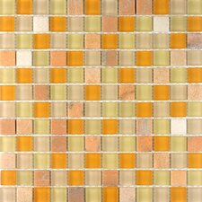 "Glacier Mountain 11-3/4"" x 11-3/4"" Tile with Squares in Mojave Sun"