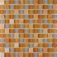 "<strong>Giorbello</strong> Glacier Mountain 11-3/4"" x 11-3/4"" Tile with Squares in Terra Firma"