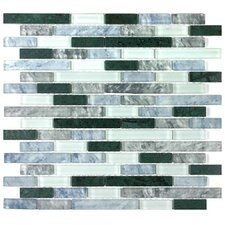 "<strong>Giorbello</strong> Glacier Mountain 12-3/4"" x 11-1/4"" Tile with Rectangles in Rome"