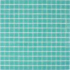 Classic Tesserae Glass Tile in Light Teal