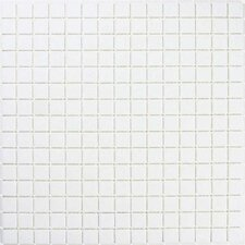 "Urban 12-7/8"" x 12-7/8"" Glass Tile in White"