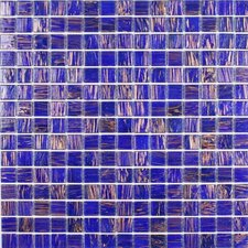 "<strong>Giorbello</strong> Gold Leaf 12-7/8"" x 12-7/8"" Glass Tile in Purple"