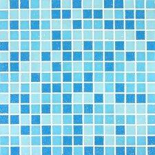 Tesserae Blends Glass Tile in Spa Blue