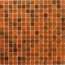 Summer Clouds Glass Tile in Burnt Red