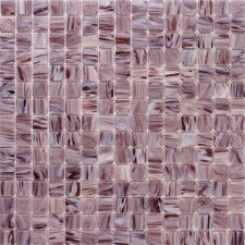 Summer Clouds Glass Tile in Burgundy Swirl