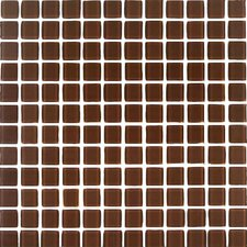 "<strong>Giorbello</strong> Cristezza Select 11-3/4"" x 11-3/4"" Glass Tile in Milk Chocolate"