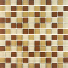 "<strong>Giorbello</strong> Cristezza Select 11-3/4"" x 11-3/4"" Mosaic Glass Tile in Coffee Aroma"