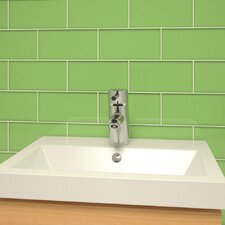 "Subway 6"" x 3"" Tile in Powder Room Green"