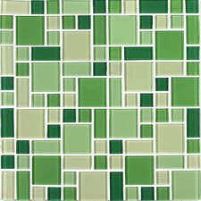 "Constellation 11-3/4"" x 11-3/4"" Cristezza Glass Tile in Irish Meadow"
