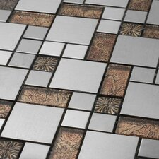 "Venetian 11-7/8"" x 11-7/8"" Glass and Aluminum Tile in Colosseum"