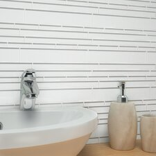 "Club 10-1/2"" x 9-1/2"" Cristezza Glass Tile in Bright White"