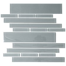 "<strong>Giorbello</strong> Club 10-1/2"" x 9-1/2"" Cristezza Glass Tile in Gray"