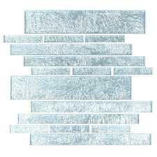 "<strong>Giorbello</strong> Club 10-1/2"" x 9-1/2"" Cristezza Glass Tile in Silver Foil"