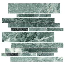 "Stone Club 10-1/2"" x 9-1/2"" Tile in Empress Green Marble"