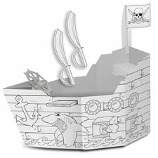 Pirate Ship Playhouse with Washable Markers