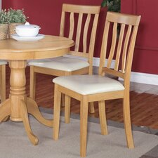 Antique Side Chair with Faux Leather Seat (Set of 4)