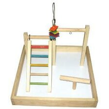 "17""x17""x12"" Wood Tabletop Play Station"