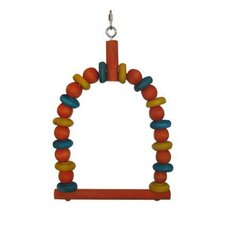 Parakeet Swing with Wood Beads