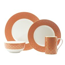 Chain Link 16 Piece Dinnerware Set