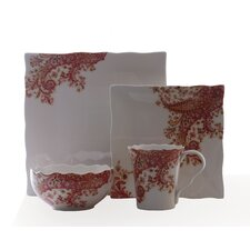 Surya Saffron 16 Piece Dinnerware Set