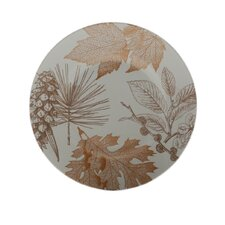 Golden Foliage Appetizer Plate (Set of 4)