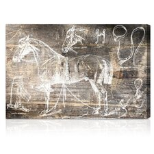 ''Horse Breaking Guide'' Graphic Art on Canvas