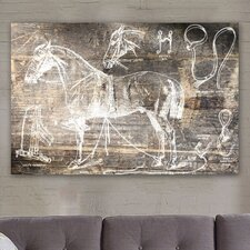 <strong>Oliver Gal</strong> ''Horse Breaking Guide'' Canvas Wall Art